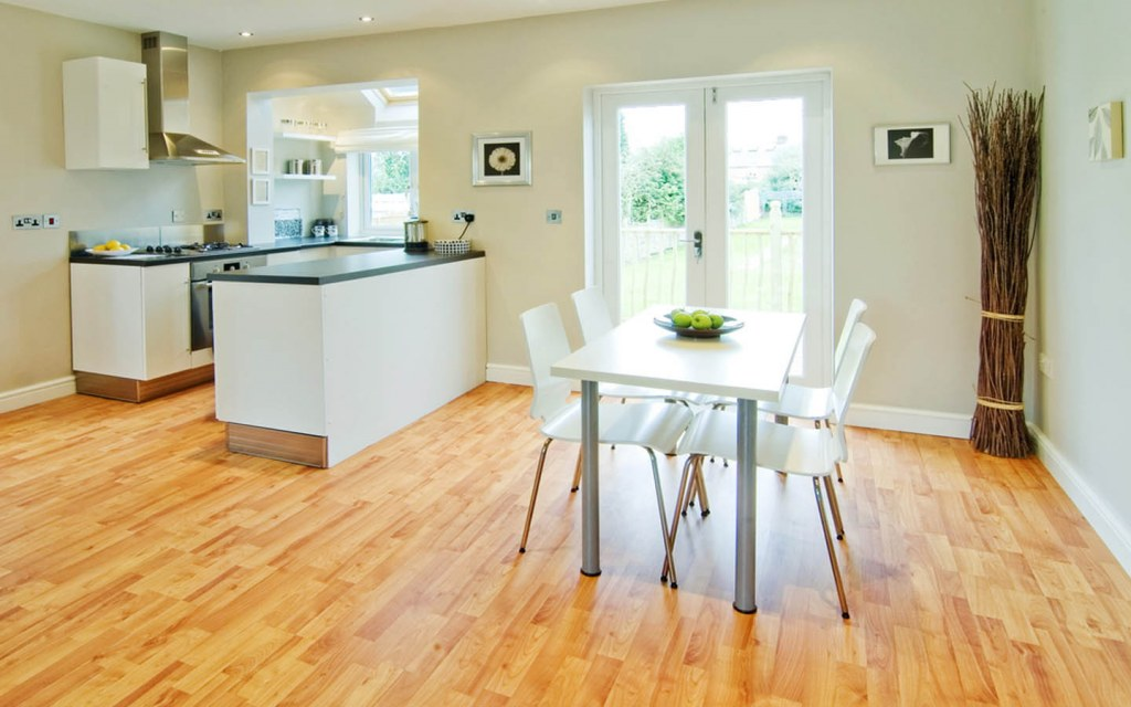 Laminate flooring is imitation for hardwood floor