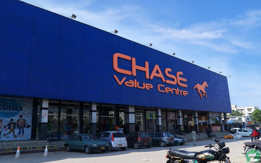 Chase Supermarket in the area of Gulshan e Iqbal
