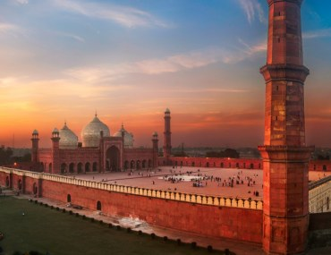 Badshahi Mosque in Lahore at sunset