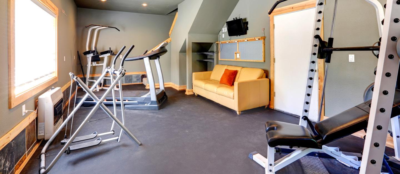 A Light and Bright Home Gym