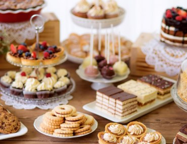 A Table Set with Delicious Desserts