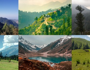 Collage of Weekend Getaways from Islamabad