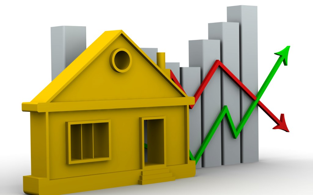 A graph of property market performance