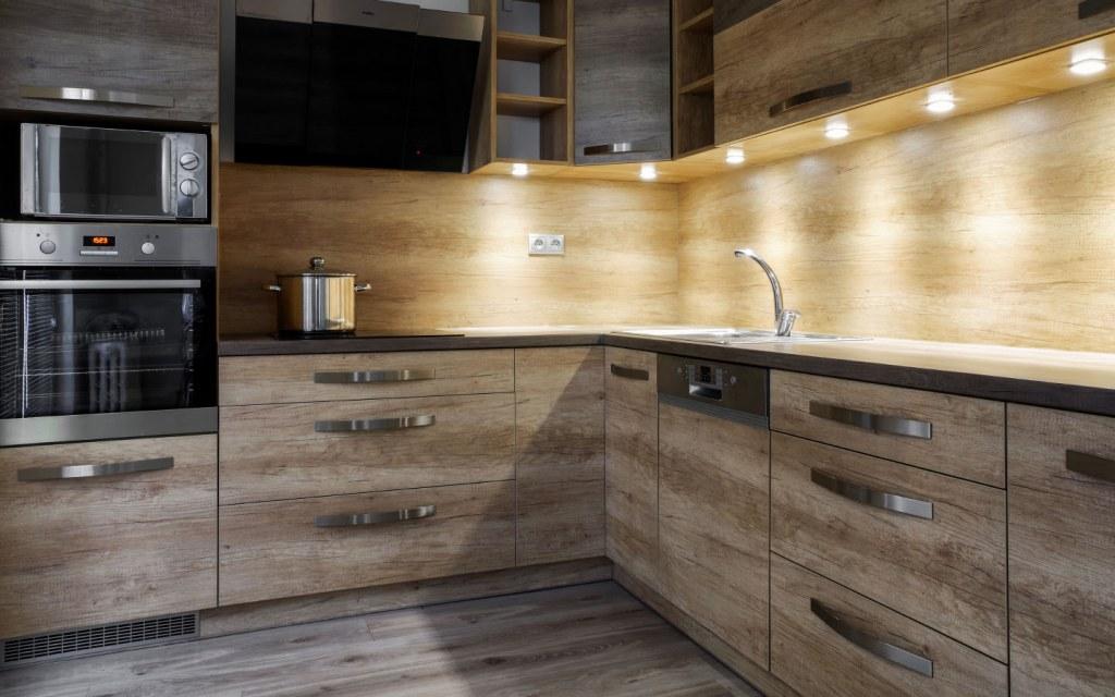lighting arrangement can uplift the charm of your kitchen colour scheme
