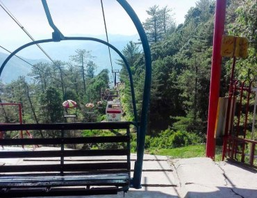 Chairlifts in Pakistan offer scenic views of the grounds from above