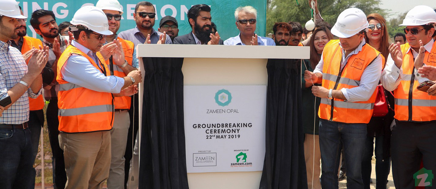 Groundbreaking ceremony held at the site of Zameen Opal