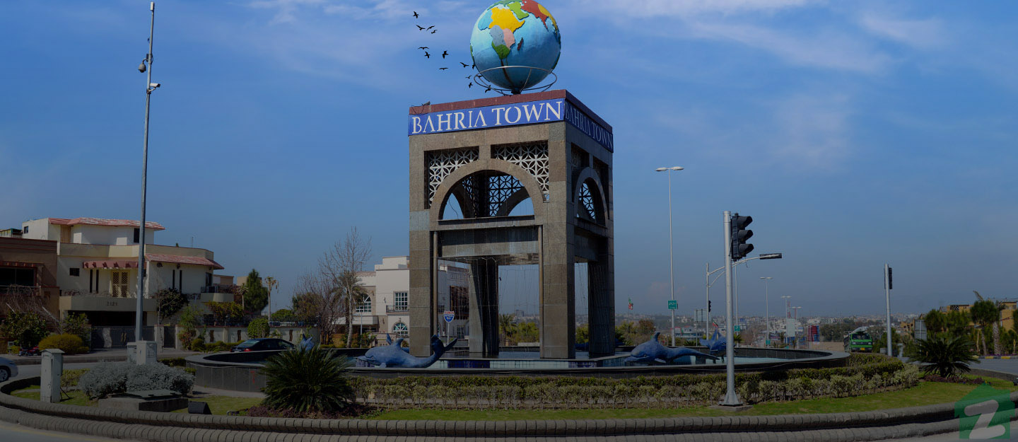 A creatively designed roundabout in Bahria Town Islamabad