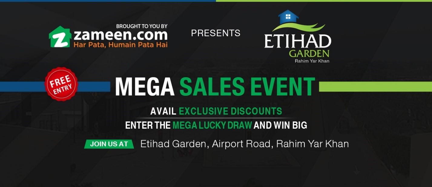 Etihad Garden mega sales event by zameen.com