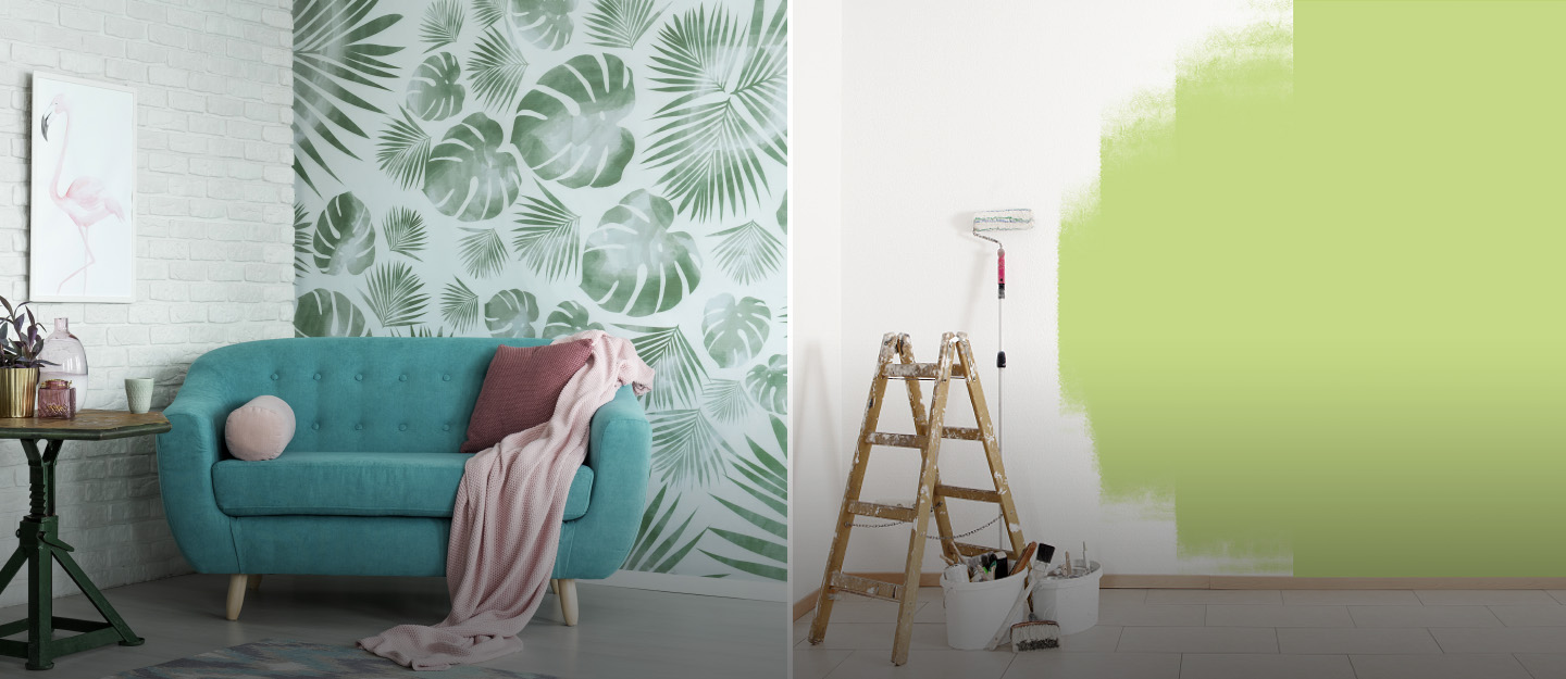 Choosing between wallpaper or paint is easy if you know what factors to consider