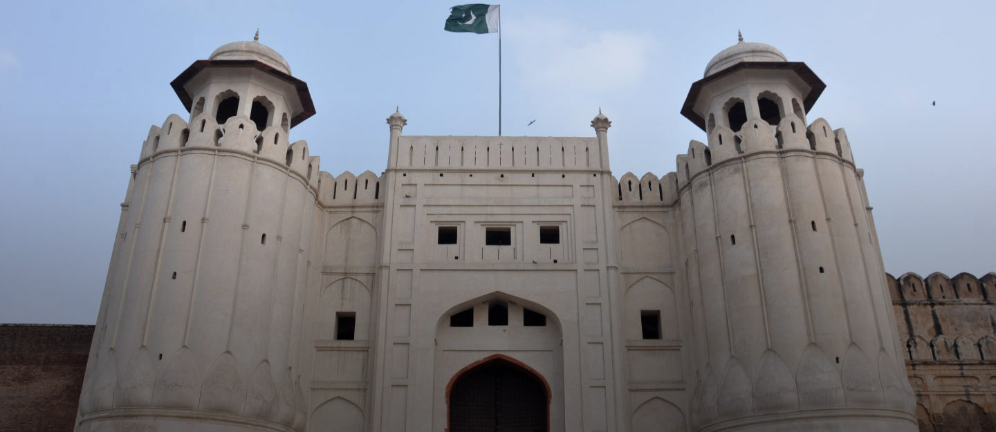 The historical place of Lahore Fort