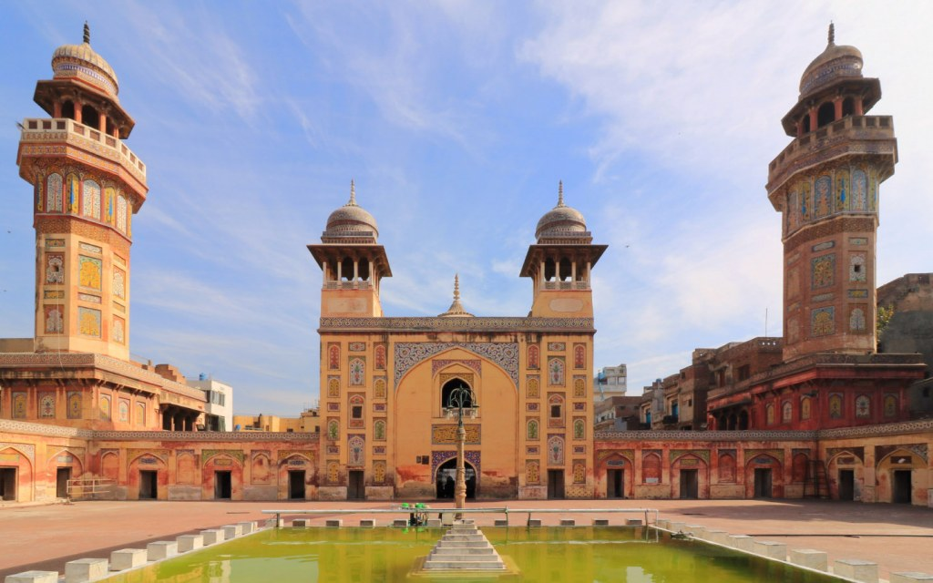 The magnificent Wazir Khan Mosque is situated near the Delhi gate of the walled inner city