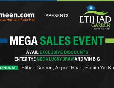 Mega Sales Event – Etihad Garden, Airport Road, Rahim Yar Khan