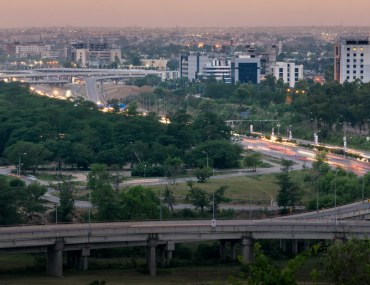 A serene view of clean and green boulevards of Islamabad