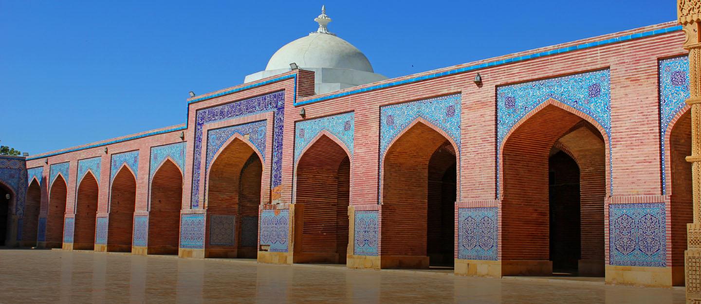 Shah Jahan Mosque in Thatta is a Mughal-era construction