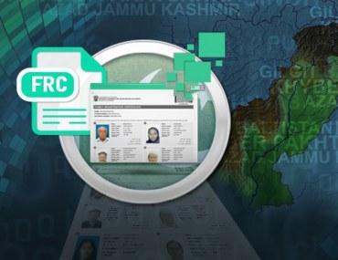 Nadra family registration certificate