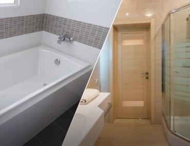 Choose between Bathtubs vs. Shower Cabinets