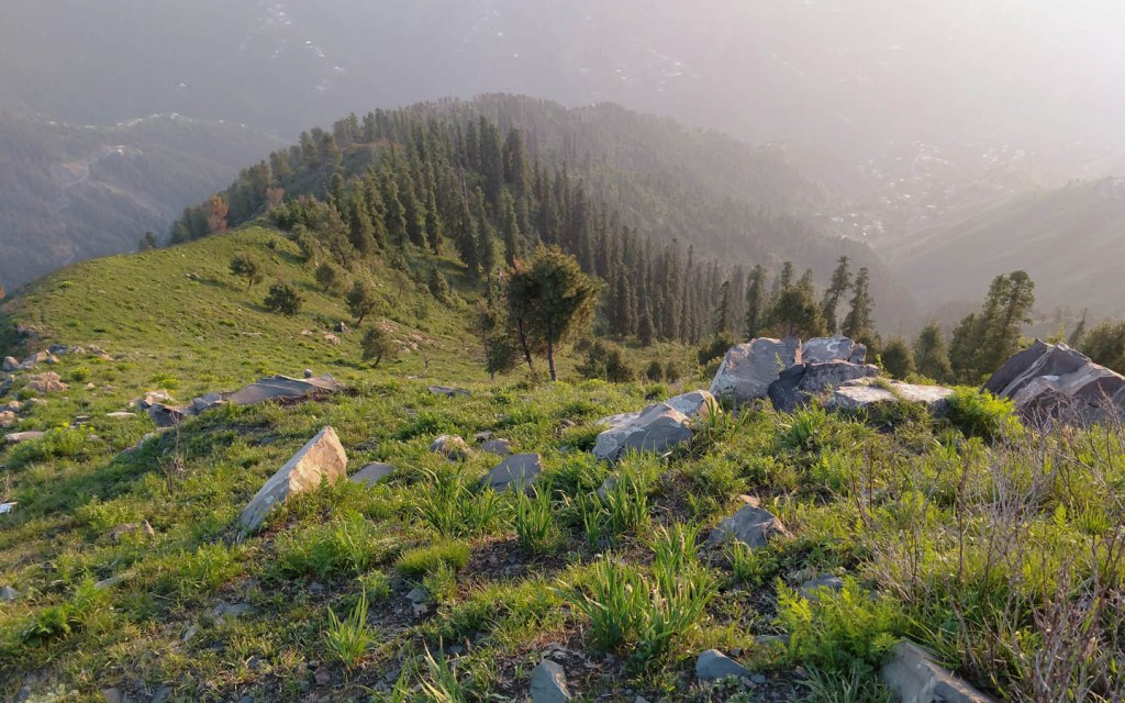 A scenic view of hill station in the Galiyat Region