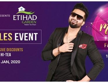 Falak Shabir at Etihad Gardens Event in RYK