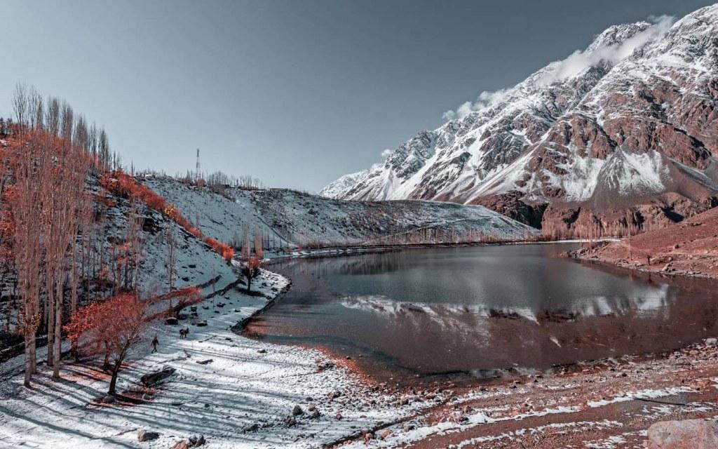 Tourists visit the Phander Lake in Gilgit