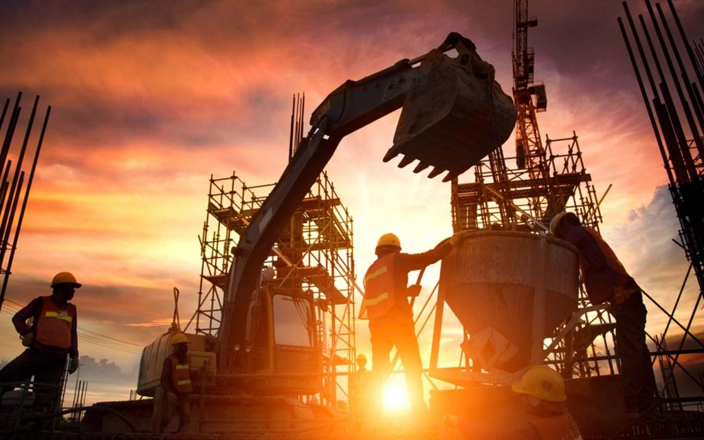 construction activities in full swing in Pakistan