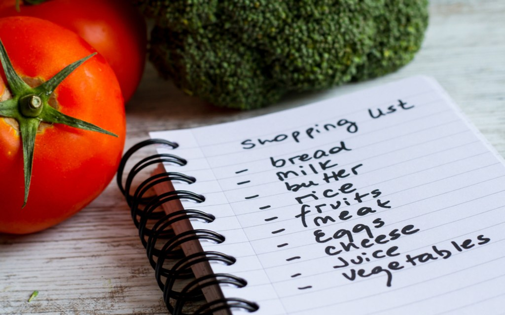 Prepare a Grocery Shopping List Beforehand