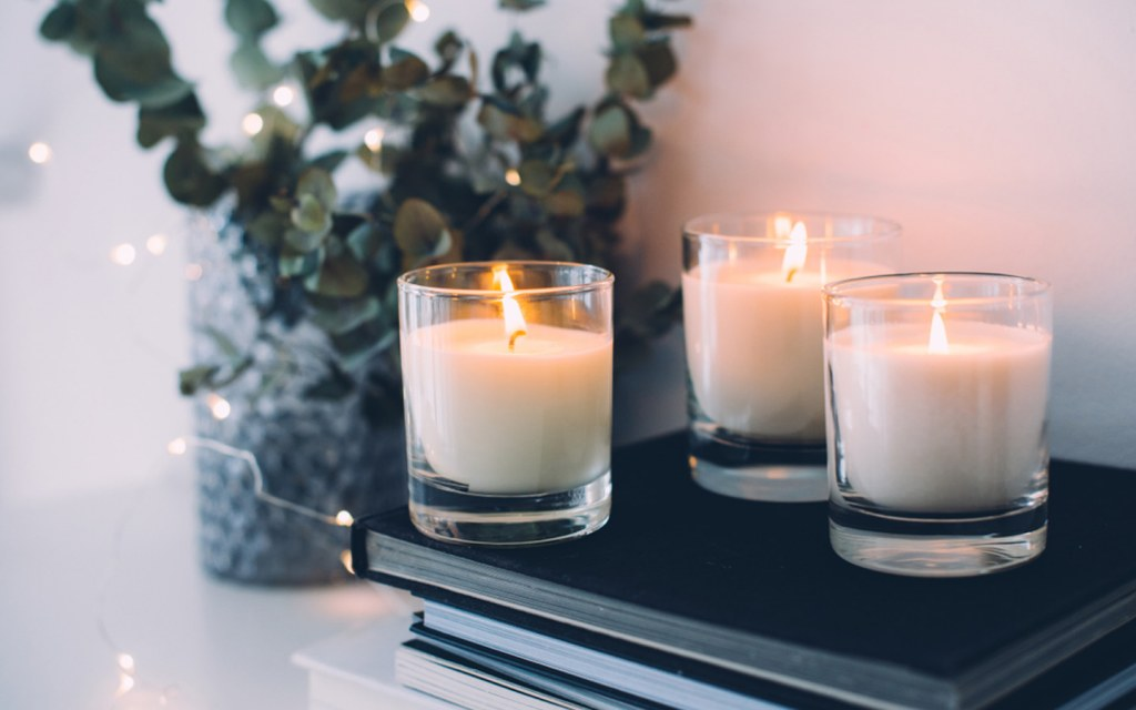 burn candles while painting your home