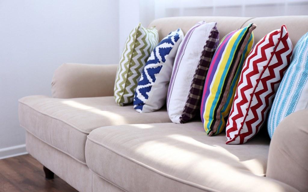 Patterns on throw pillows