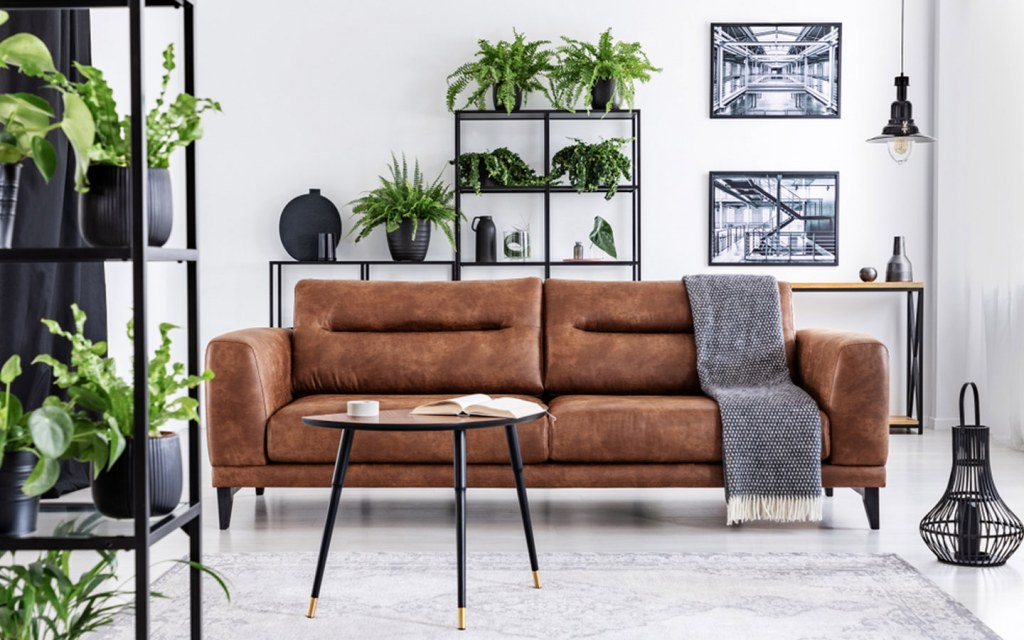 leather is one of the the most durable fabrics for a couch