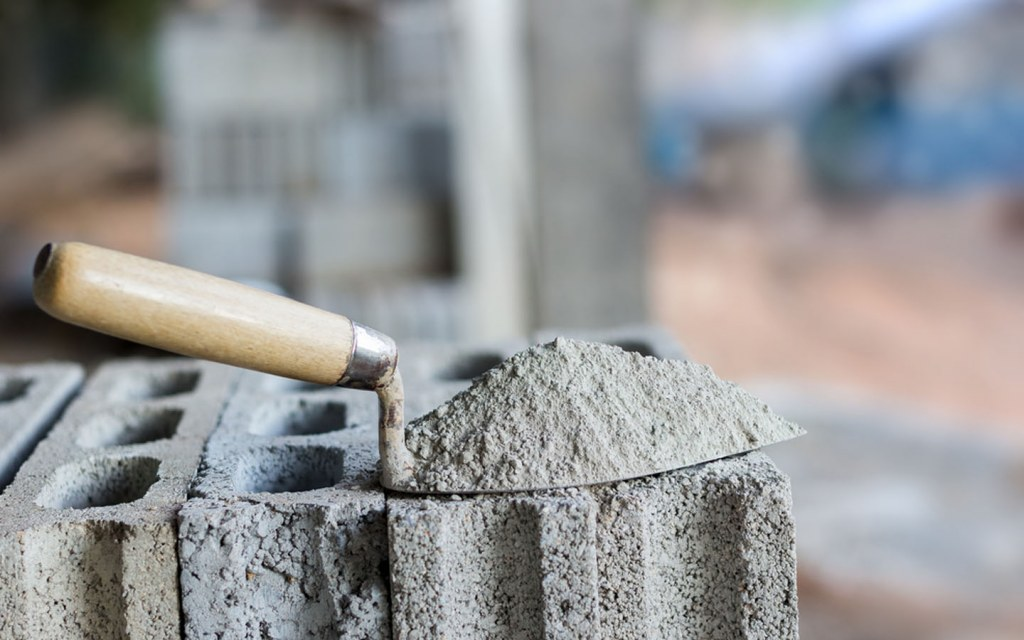 Cement is used in constructing the house