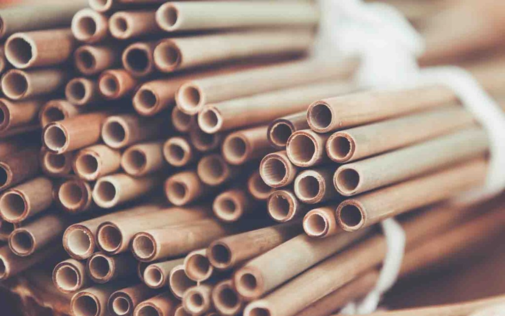 replace plastic straws with bamboo straws