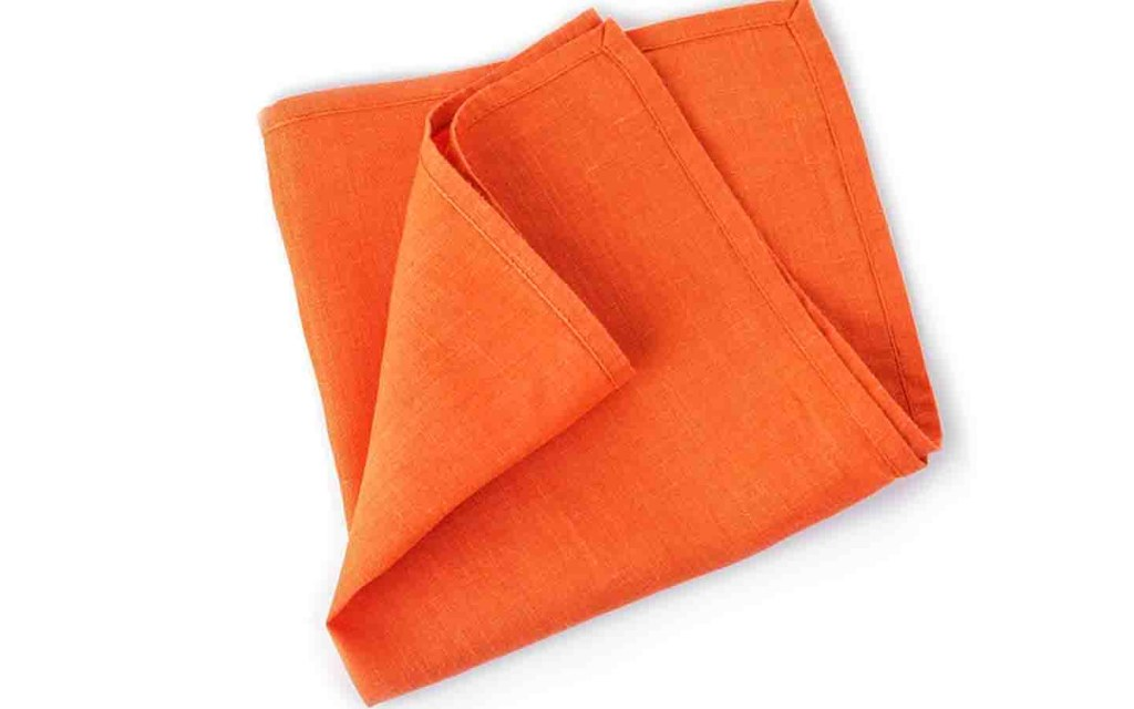Try using fabric napkins instead of tissues