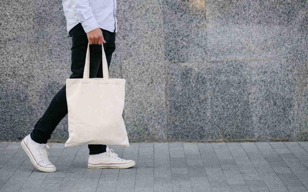 using cloth bag instead of polythene