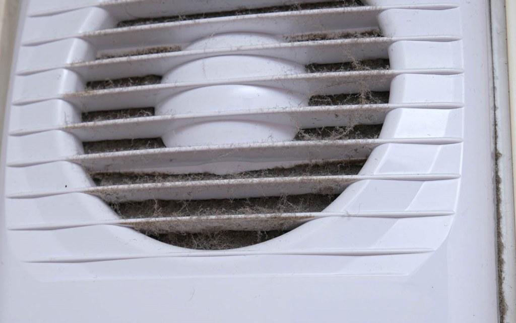 Dirty exhaust fan
