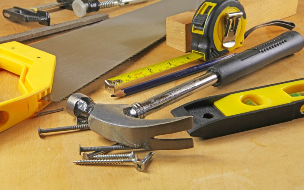 Carpenter's tools and material