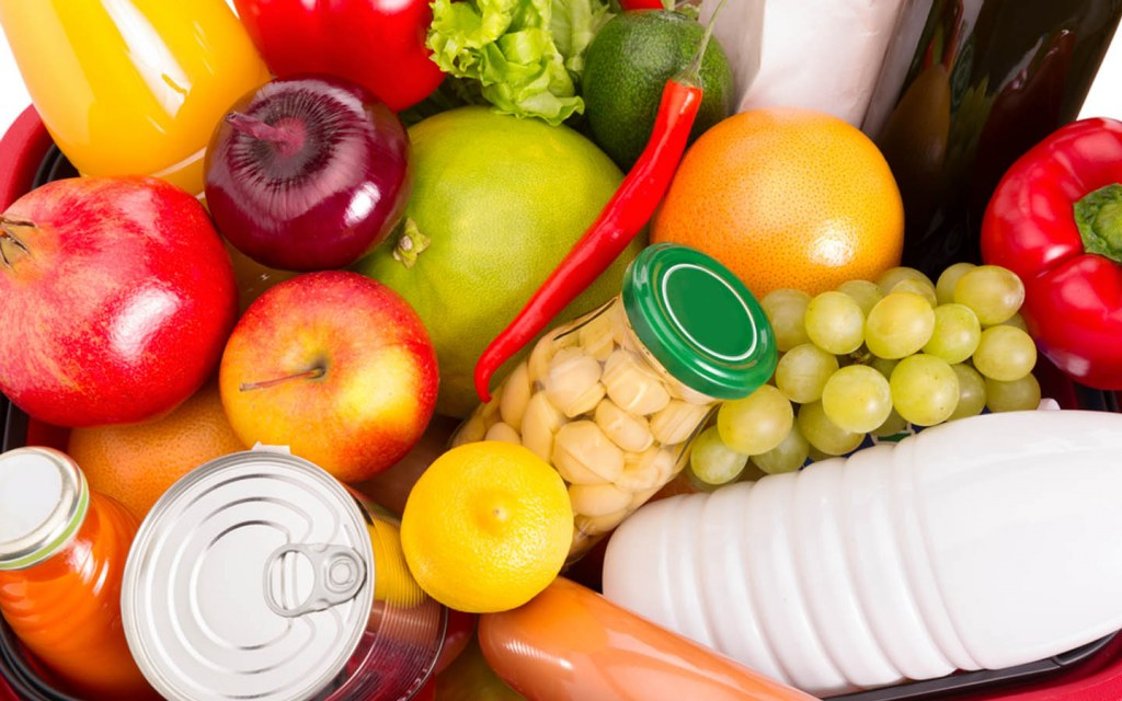 Healthy and fresh food items