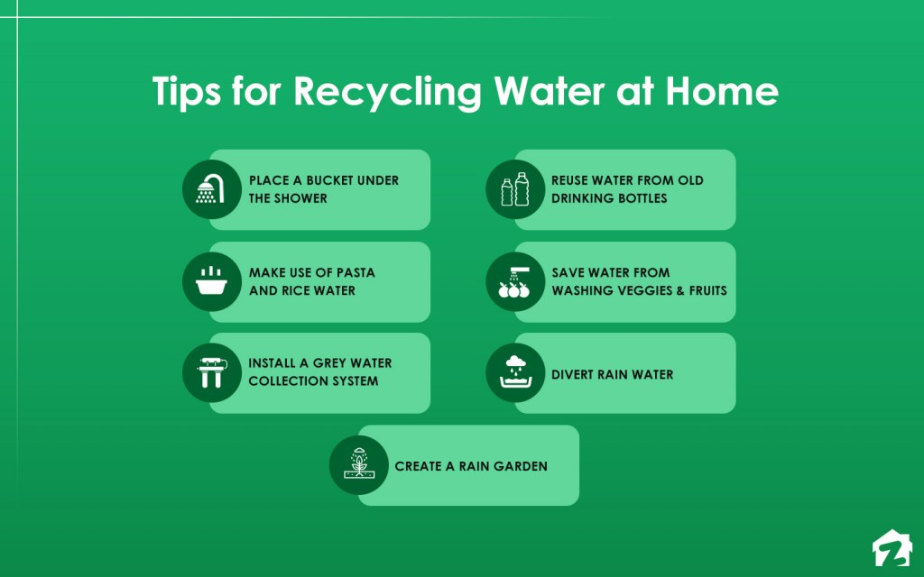 Tips on how to recycle water at home