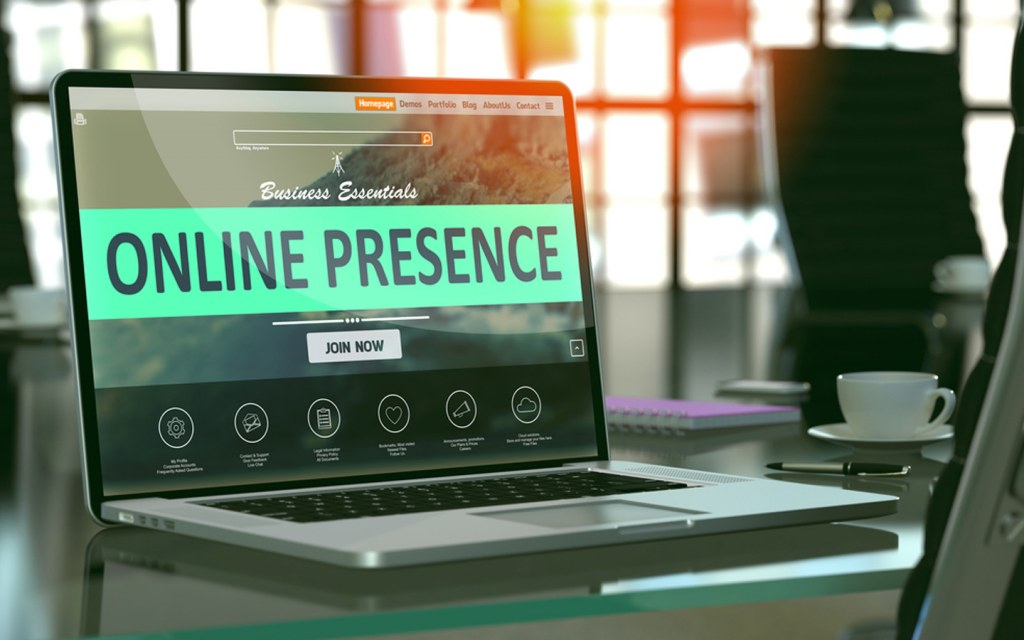 Build a website or page to mark your online presence