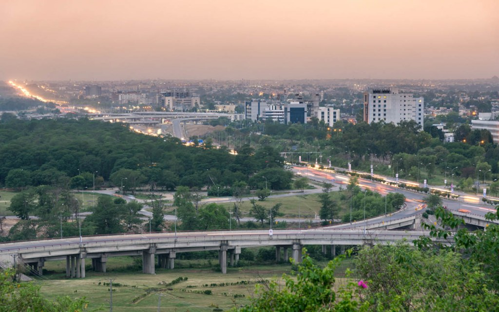 Aerial view of Islamabad