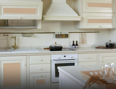 Custom-designed kitchen cabinets