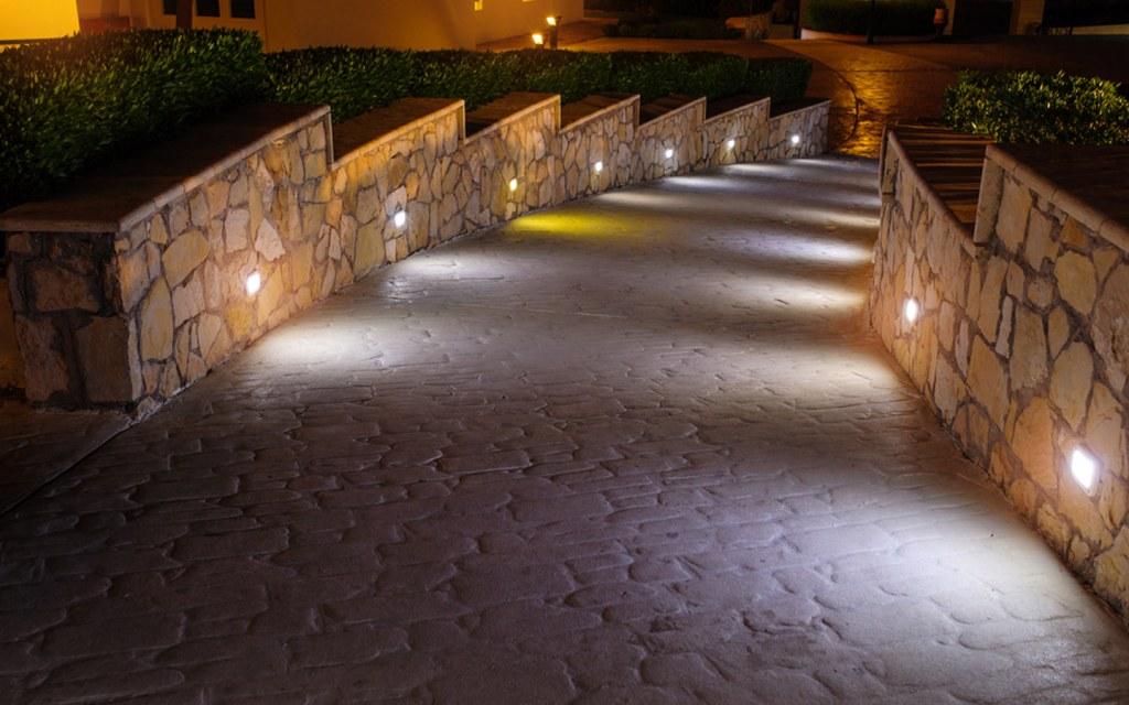 Path lights can brighten the pathways