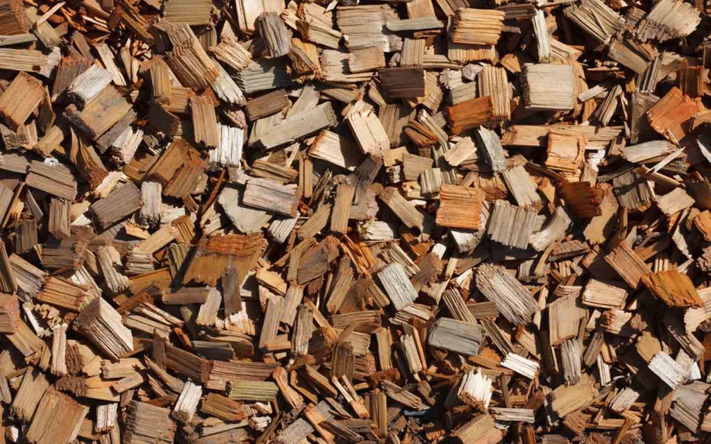 Small pieces of wood are used in making food fibre