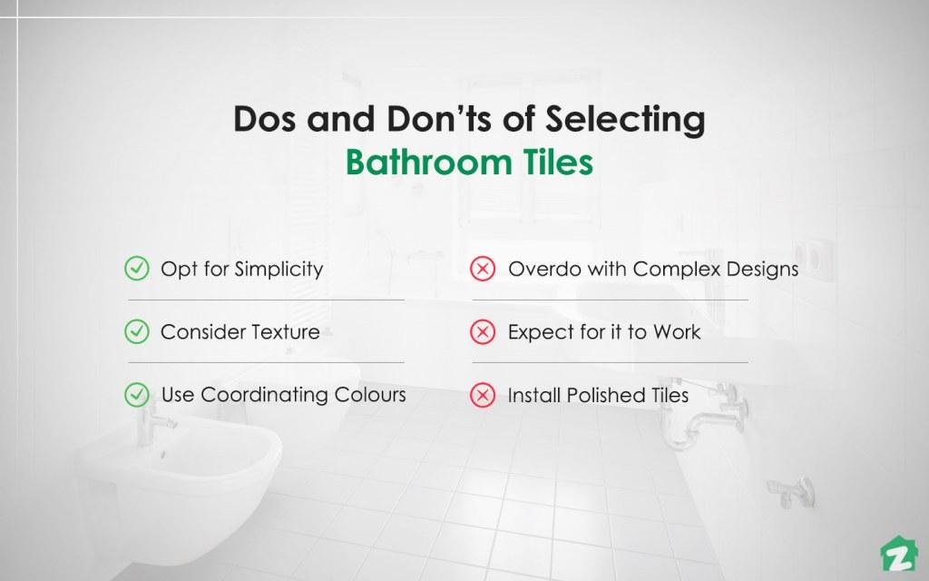 Dos and don'ts of selecting bathroom tiles