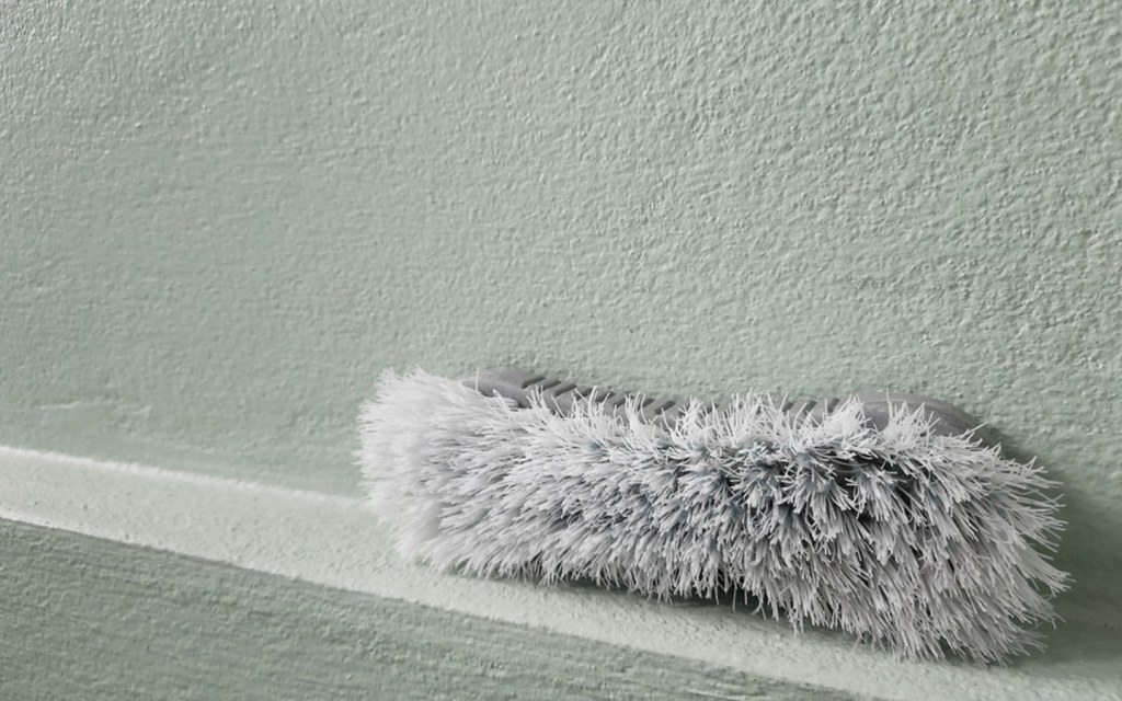 Clean textured plaster wall
