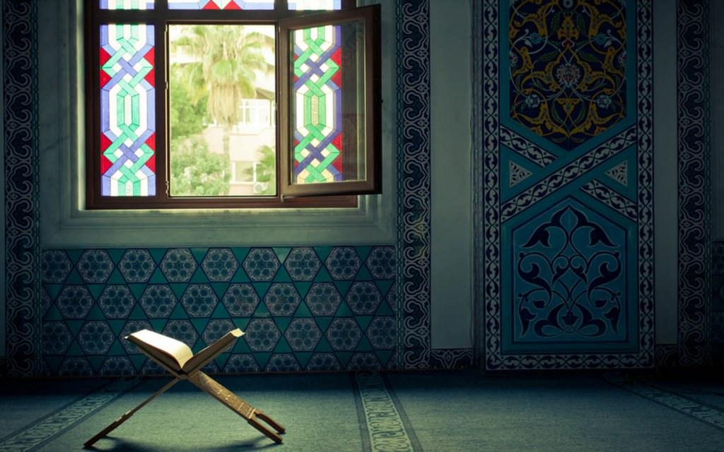 Quran near the window