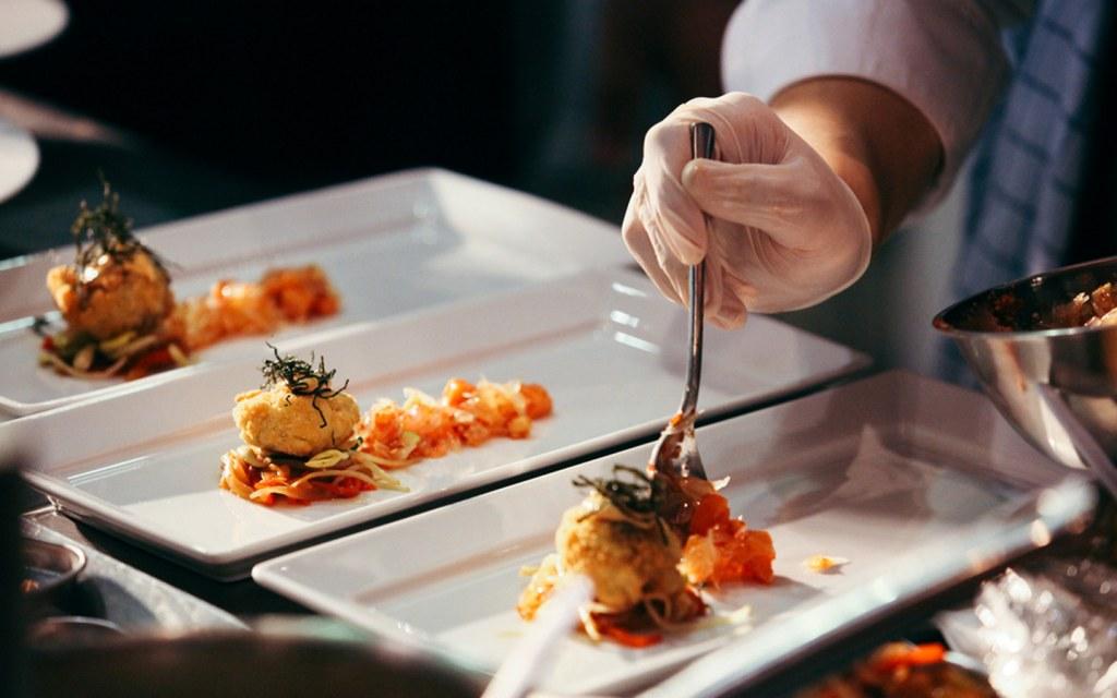 Fine dining food presentation a
