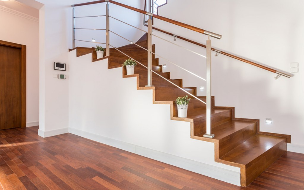 install lights on staircase to make it safe for kids