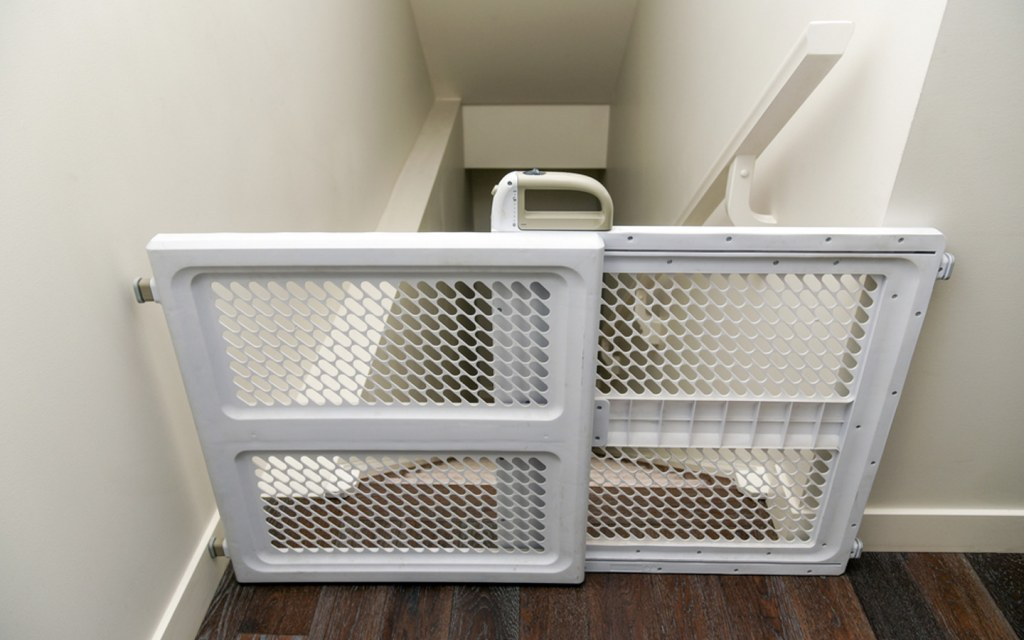 childproofing the staircase with baby gates