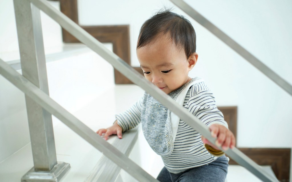 make a staircase child-friendly