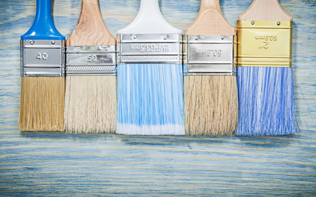 types of brushes for painting a staircase