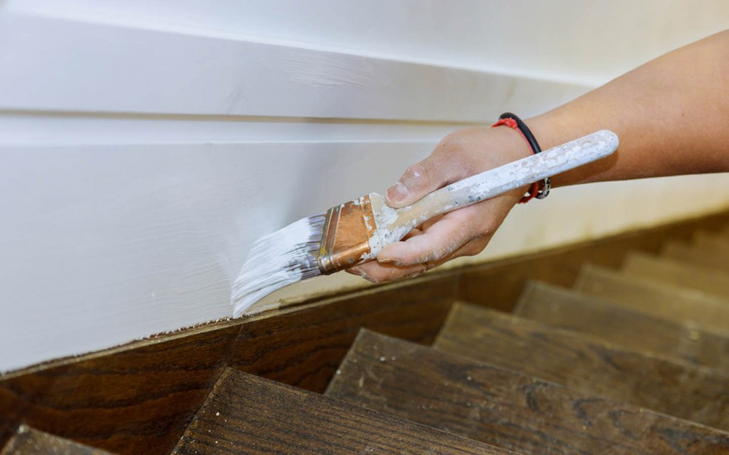 painting high traffic staircase